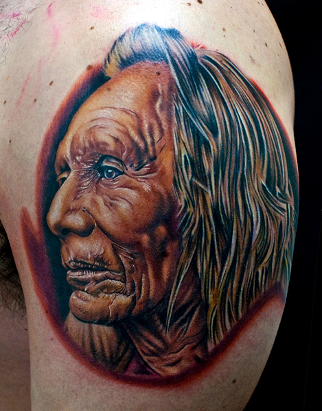588d37726 native american chief tattoo 04. native american skull tattoo