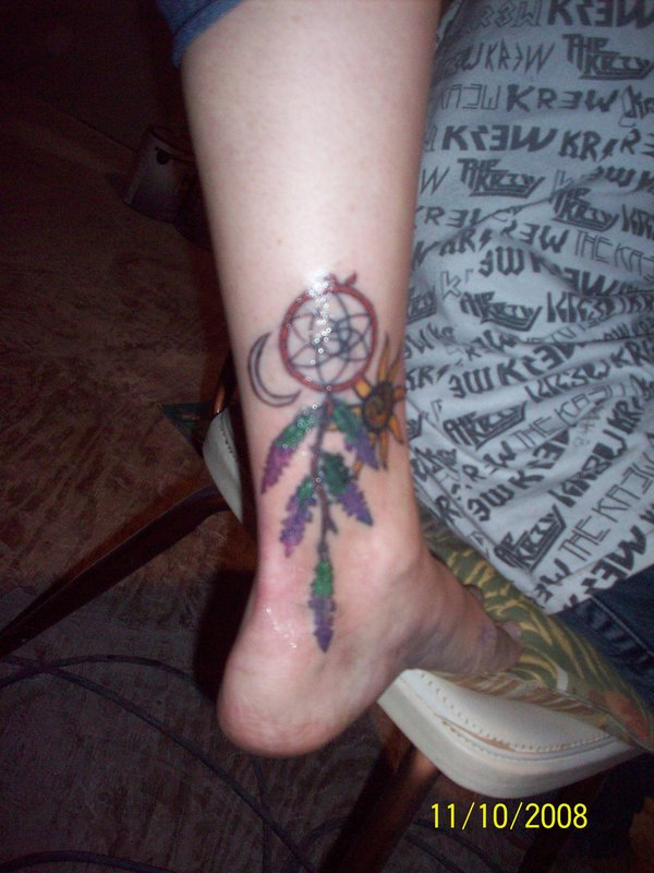 What Do Dreamcatcher Tattoos Represent? | Indian feather ... |Native American Dreamcatcher Tattoo