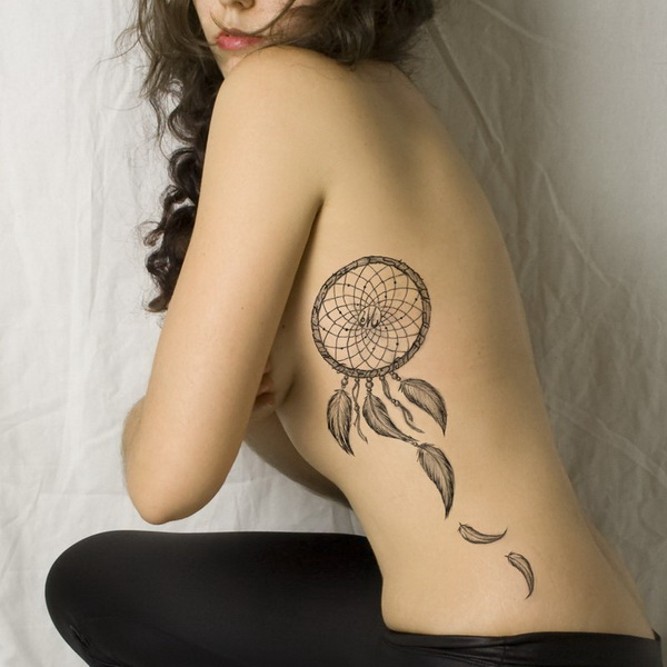 Dream Catcher Tattoo On Side