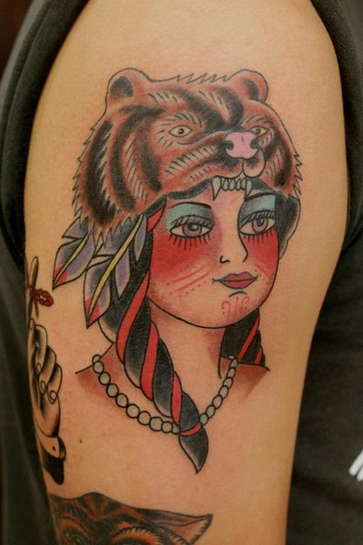 native american indian girl tattoo 10