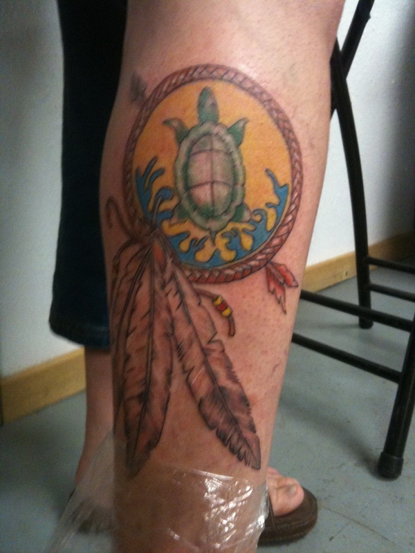 native american turtle tattoo 01