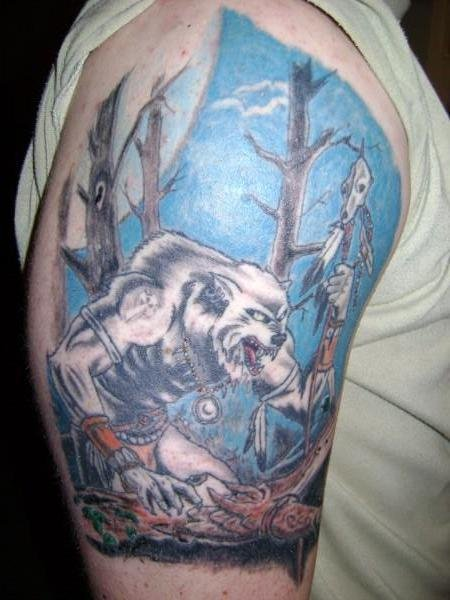 native american wolf tattoo 01