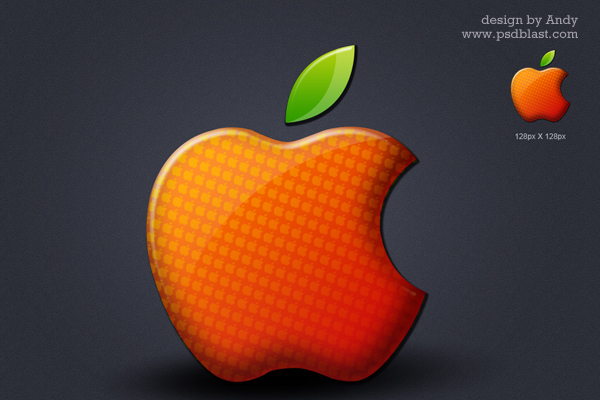 redesign apple logo psd file