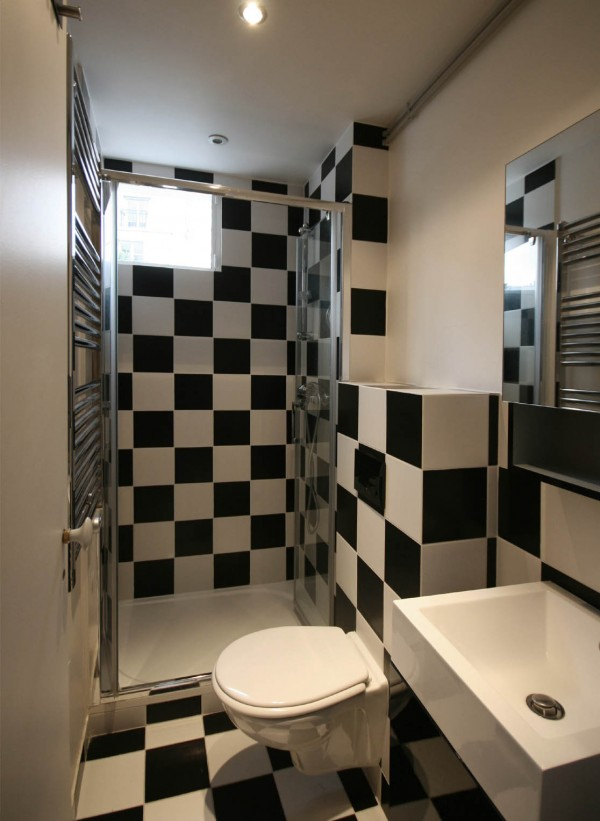 black and white compact bathroom design 2541