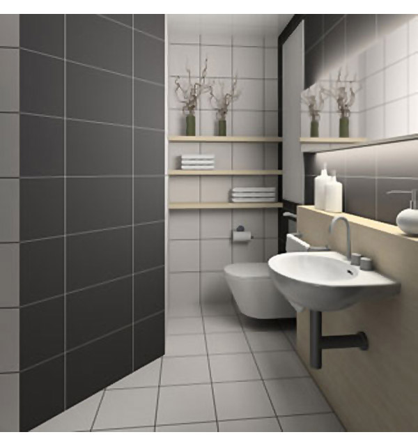 Black And White Small Bathroom Interior Design