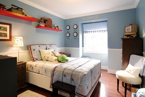 contemporary boys bedroom decorating by capelo design
