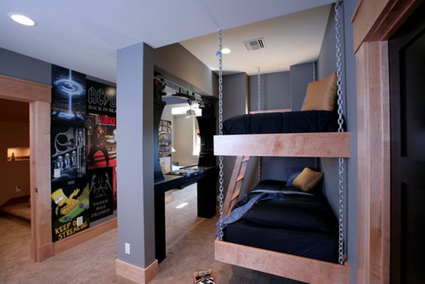 contemporary boys bedroom designs by visbeen associates