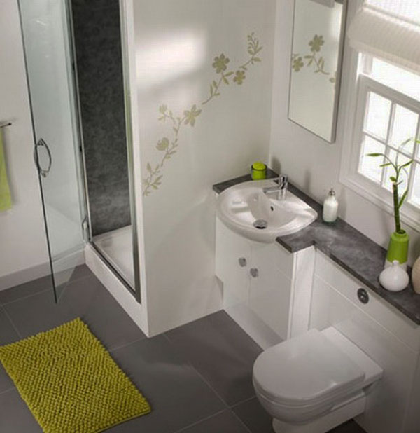 Small Bathroom space saving corner toilet for small rooms Contemporary Small Bathroom Interior Design