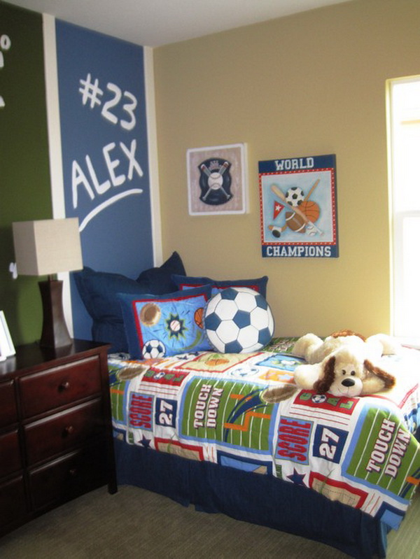 Sports Themed Bedroom Accessories Contemporary Sports Theme Boys Bedroom By Klang Associates