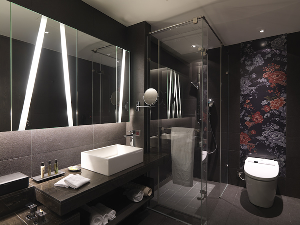 Dark Small Bathroom Design