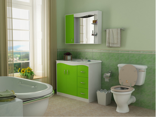 green bathroom design 2521
