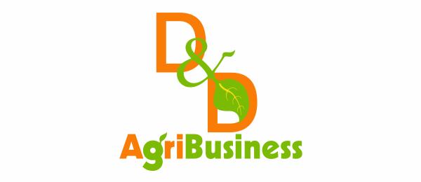 letter d logo design agri business