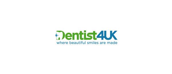 letter d logo design dentist4uk
