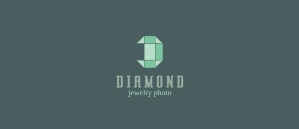 letter d logo design diamond