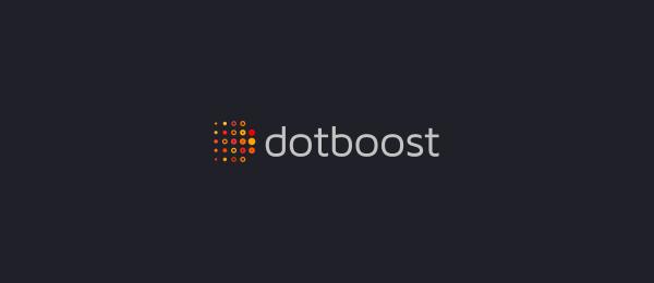 letter d logo design dot boost