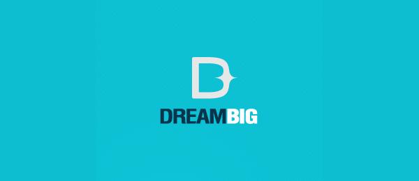 letter d logo design dream big