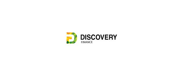 letter d logo design dyscovery finance