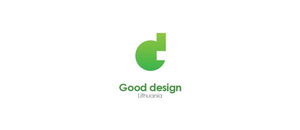 letter d logo design lithuanian good design