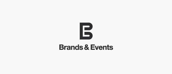 letter e logo design brands events