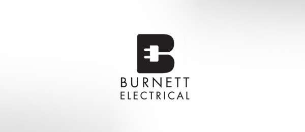 letter e logo design burnett electrical black