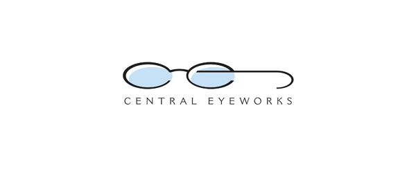 letter e logo design central eyeworks