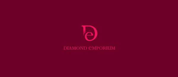 letter e logo design diamond emporium v2