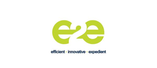 letter e logo design e2e