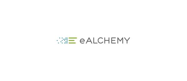 letter e logo design ealchemy
