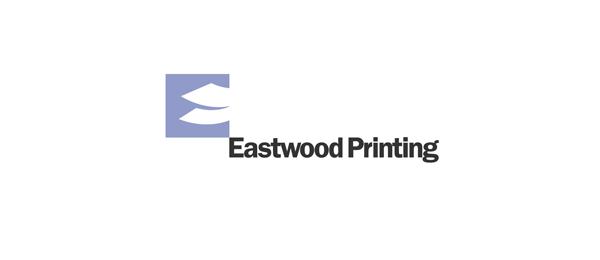 letter e logo design eastwood printing