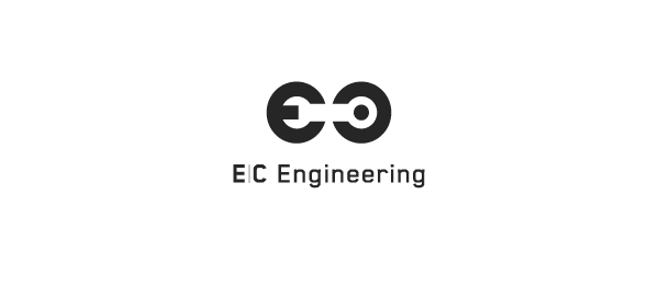 letter e logo design ec engineering