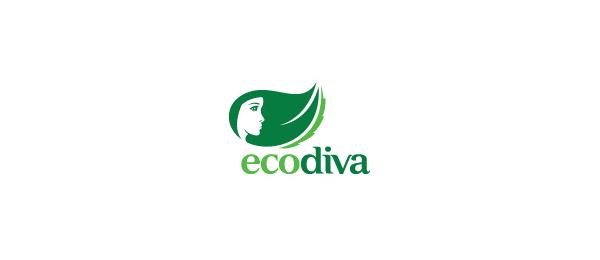 letter e logo design ecodiva
