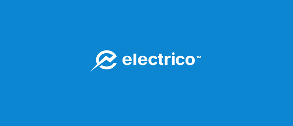 letter e logo design electrico