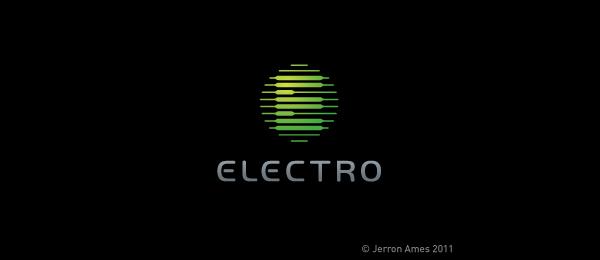 letter e logo design electro