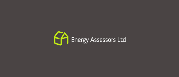 letter e logo design energy assessors ltd