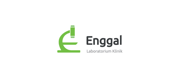 letter e logo design enggal laboratorium klinik