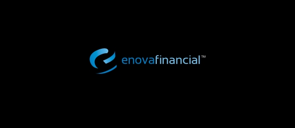 letter e logo design enova financial