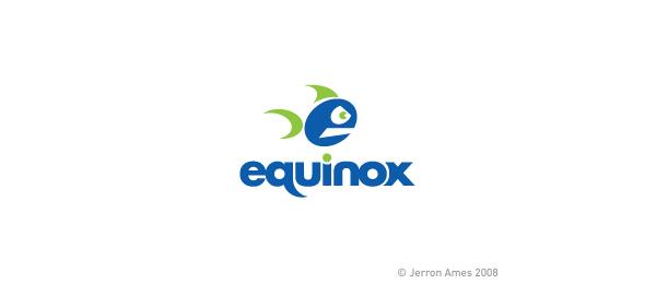 letter e logo design equinox