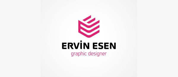 letter e logo design ervin esen