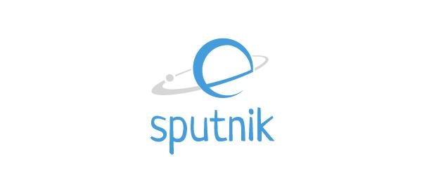 letter e logo design esputnik