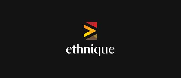 letter e logo design ethnique
