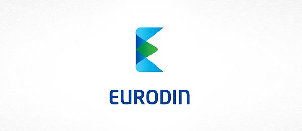 letter e logo design eurodin