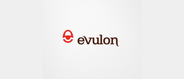 letter e logo design evulon