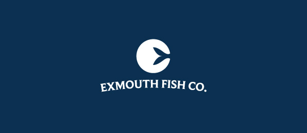 letter e logo design exmouth fish co