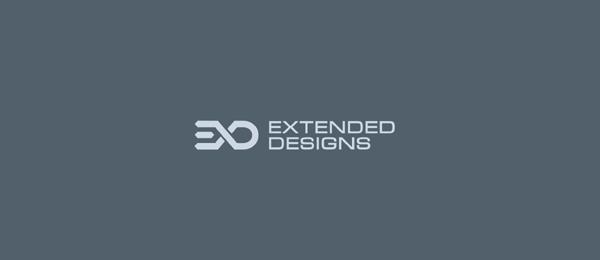 letter e logo design extended