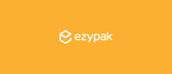 letter e logo design ezypak