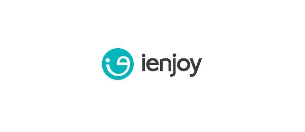 letter e logo design ienjoy