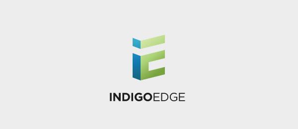 letter e logo design indigoedge