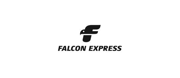 letter f logo design falcon express