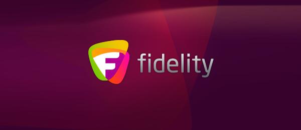 letter f logo design fidelity