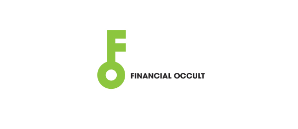letter f logo design financial occult